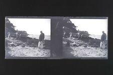 Île de Noirmoutier Jeux de Sable Vendée Photo n14 Stereo Plaque NEGATIF 1925