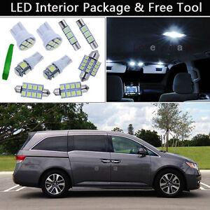 17PCS Bulbs White LED Interior Lights Package kit Fit 2011-2016 Honda Odyssey J1