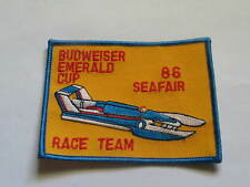 Budweiser Emerald Cup Boat Racing Patch 1986 Seafair Race Event ,(Boat #010)(**)