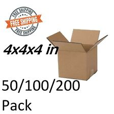 Paper Boxes Mailing Packing Shipping Cardboard Box Corrugated Carton 4x4x4 Inch