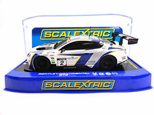 """Scalextric """"Avon Tyres"""" Bentley Continental GT3 DPR 1/32 Scale Slot Car C3515"""