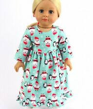 "Christmas Santa Nightgown Doll Clothes Fits 18"" American Girl Sleep Pajamas PJs"