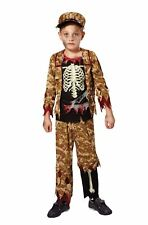 Skeleton Boy Soldier, Medium, Halloween, Boys (or Girls!) Fancy Dress
