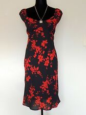 Beautiful Summer Dress from Jonathan Martin. Black w/Red Floral Print Dress Sz.5