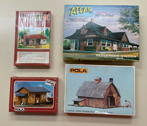 HO Scale Buildings Lot (3) Sealed (1) Opened, Unbuilt Atlas Faller Pola H0 LOOK