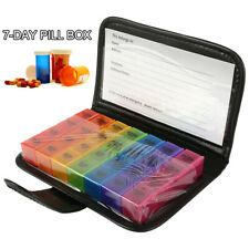 7 Day Weekly & Daily Jumbo Large Pill Box with 28 Compartments AM PM UK P4