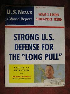 US NEWS WORLD REPORT Magazine March 5 1954 Arthur W. Radford Joint Chiefs