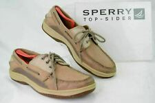 SPERRY TOP SIDER 709023 Mens 12M Tan Beige Slip On Boat Deck Casual Shoes P113