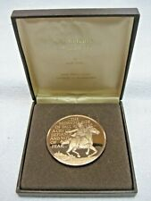Vintage Franklin Mint -Call To Battle April 1775 Solid Bronze Coin Proof W/ Box