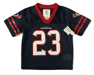 New NFL Houston Texans Throwback #23 Arian Foster Blue Jersey Boys Size 2T