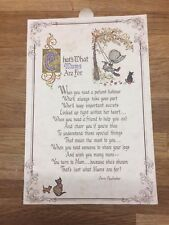 """Holly Hobbie"" Greetings Card Mother's Day Poem Doris Faulhaber c1970's Vintage"
