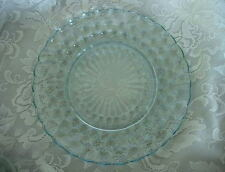 Vintage 1940's ANCHOR HOCKING Sapphire Blue Bubble Pressed Glass Dinner Plate