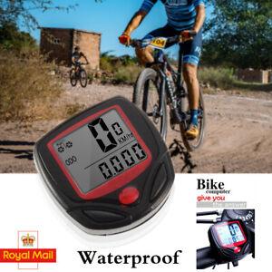 Bike Bicycle Computer LCD Speedometer Odometer Speedo Waterproof Stopwatch Tool
