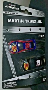 NASCAR AUTHENTICS 2020 1/87 #19 MARTIN TRUEX JR. BASS PRO SHOPS 2 CAR SET RARE!