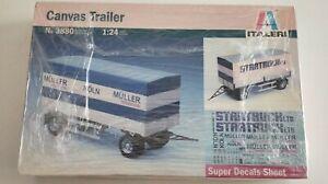 REMOLQUE CANVAS TRAILER ITALERI 3880 1:24  NEW IN BOX