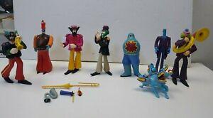 2000 McFarlane Toys Beatles Yellow Submarine Figures Lot of 8 GD