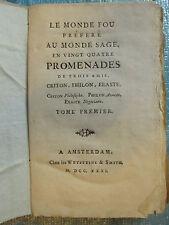 Marie HUBER : LE MONDE FOU préféré au monde sage, 1731. Tome 1 seul (sur 2).