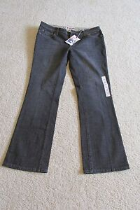 """New with Tags Women's Bisou """"Faded Black Look"""" Bootcut Blue Jeans Size 14"""