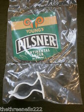 NEW BEER PUMP CLIP - YOUNGS PILSNER LAGER (WITH FITTING CLIP)