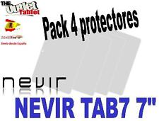 """Pack 4 Protectores de pantalla para Tablet NEVIR TAB7 7"""" TAB 7"""