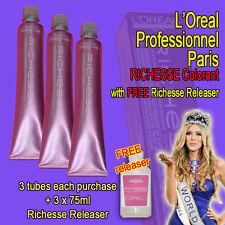 L'Oreal Richesse Semi-Permanent Colorant 3 tube set + FREE Releaser 75mlx3