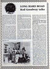 Q24 Clipping-Ritaglio 1989 Long Hard Road - Rod Goodway talks