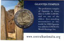 COIN CARD Uff. 2 EURO COMMEMORATIVO MALTA 2016 Ggantija - Cornucopia