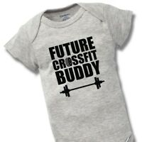 Future Crossfit Buddy Onesies Baby Shower Gift Funny Cute Girl Clothes Train Gym