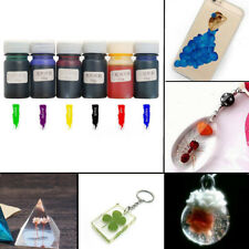 6Pcs Liquid Silicone Resin Pigment Dye DIY Making Crafts Jewelry Accessories 10g