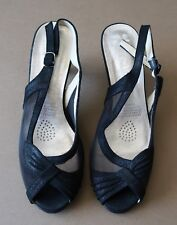 *AS NEW Size 8 Allino Black Mesh & Suede Leather Women's Shoes