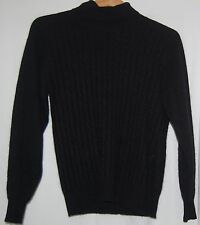 Vintage Rafaella Womens Black Sweater Turtleneck Lambs Wool Angora Rabbit M 80s