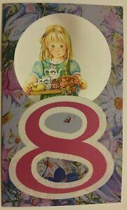 ONE EXEMPLAR! New Lisi Martin double card Birthday 8 year girl jam cookie Latvia