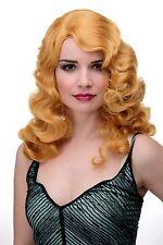 Perücke Classic Hollywood Wasserwelle gewellt Blond helles Kuperblond GFW1860