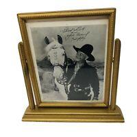 1949 Hopalong Cassidy Topper Photo Signed Good Luck Your Friend Hoppy