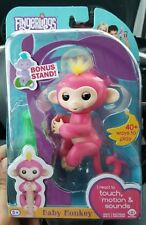Fingerlings- Pink Bella Interactive Pet Baby Monkey W/Stand WowWee Nib 2017