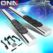 "FOR 02-09 DODGE RAM 2DR REG CAB STAINLESS 6"" CHROME OVAL SIDE STEP NERF BAR KIT"