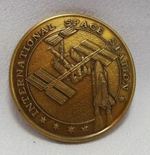 NASA STS-88 ISS Mediallian Coin from Flown Metal Unity Node December 1998 SFA