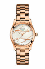 Tissot T-Wave (T112.210.33.111.00) Women's Stainless Steel Wristwatch with Black Dial