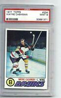 MINT 1977 Topps #234 Wayne Cashman graded PSA 9.