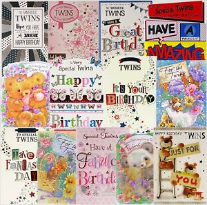 Twins Birthday Card - Various Designs Available