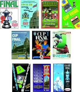 FA CUP FINAL PROGRAMME COVER FRIDGE MAGNETS 1980 to 1989