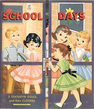 Vintge 1959 School Days Paper Doll Laser Reproductn~Org Sze UncuT Free Sh