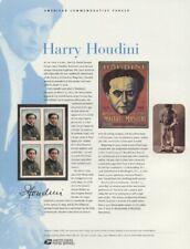 #656 37c Harry Houdini Stamp #3651 USPS Commemorative Stamp Panel