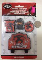 Ninja Party Supplies boys birthday Candle Set