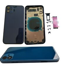 Blue Metal For iPhone 11 Replace To iPhone 12 Back Door Glass Battery Housing