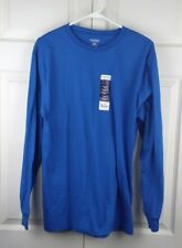 STAFFORD PERFORMANCE MEN'S SHIRT SIZE S LONG SLEEVE RUNWAY BLUE NWT  (*LS072)