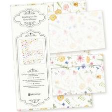 Floral Bianca Briefpapier Blumen Natur 25 Sets Schönes Set mit Umschläge