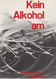 Original vintage poster SWISS DRIVING SAVETY NO ALCOHOL 1964