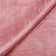 INDIAN PURE FAUX DUPION RAW SILK FABRIC BRIDAL DRESS CRAFT MATERIAL45''wide