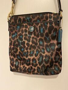 Coach Leopard Print Small Messenger Bag